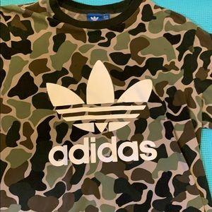 Men's Adidas Camo trefoil tee
